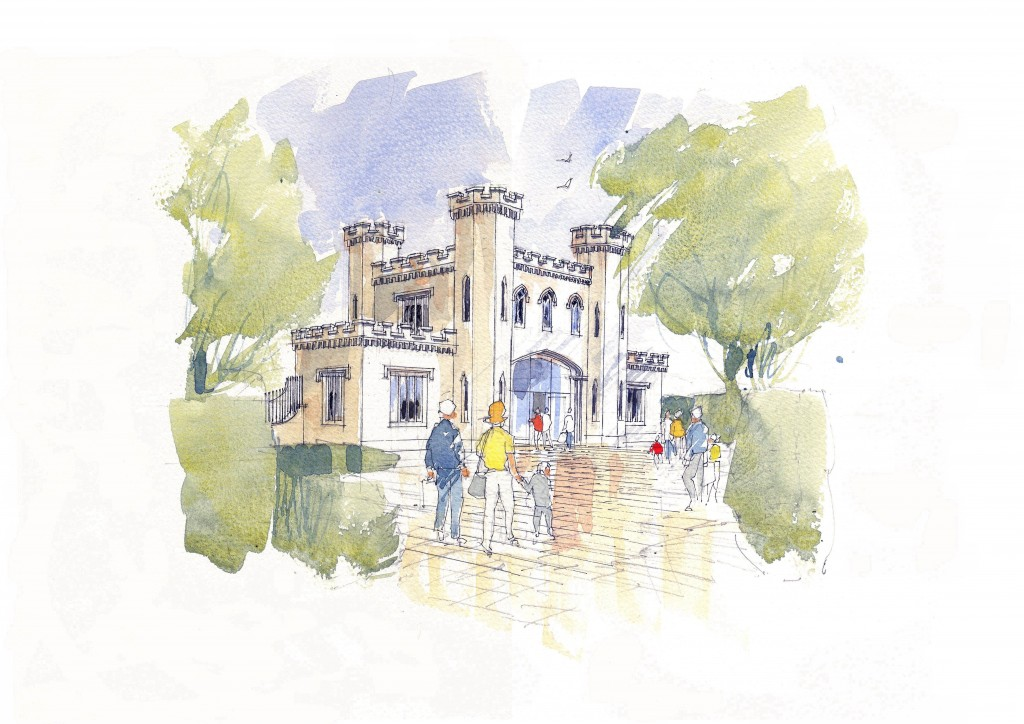 View of the proposed entrance from the school