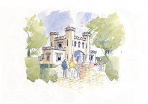 View of the proposed entrance from Ashton Park School