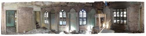 Panoramic interior view of the 1st floor room