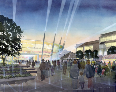Artist's impression of the new Arena