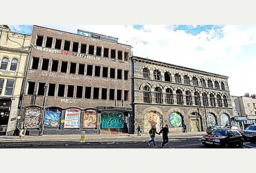 Photo by Bristol Post of the Carriageworks, with Westmoreland House to the left.