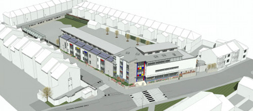 Aerial view of proposed new school (photo courtesy of Bristol247.com)